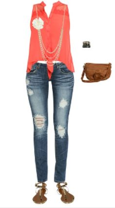 Maybe a summer date outfit? Wet seal