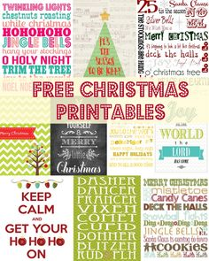 Free Christmas Printables to Help You Decorate Your Home