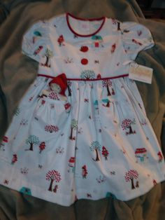 White and Red Little Red Riding Hood Pocket Penny dress size 5 by dragonbees, $35.00
