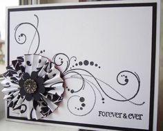 IC280 Black wedding card