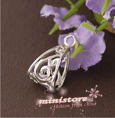 Bulk Sale   10 pcs of Silver Plated Triangle Charm by ministore, $3.90