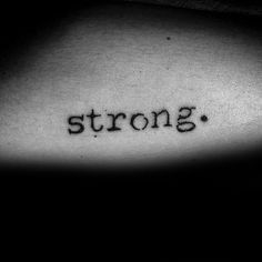 60 Strength Tattoos For Men - Masculine Word Design Ideas - 60 Strength Tattoos For Men – Masculine Word Design Ideas - Wörter Tattoos, Wrist Tattoos, Word Tattoos, Mini Tattoos, Body Art Tattoos, Sleeve Tattoos, Tatoos, Strength Tattoos, Star Tattoos For Men