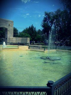 Fountain At Carey Park Hutchinson KS Grandma And Grandpa Would Take Us For Rides
