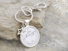 Schlüsselanhänger - Cabochon Schlüsselanhänger  - ein Designerstück von Cathy-Thica-Namaste bei DaWanda