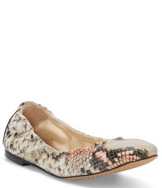 Vince Camuto Brindin Leather Ballet Flats - Cream Snake 9M Leather Ballet Flats, Dillards, Vince Camuto, Snake, Latest Trends, Slip On, Cream, Accessories, Shoes