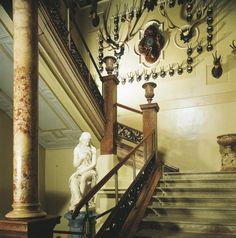 Bad Ischl - Kaiservilla - Stiegenaufgang Austria, Kaiser Franz Josef, Villa, Lake District, Stairs, Europe, Mansions, Interior, Amelie