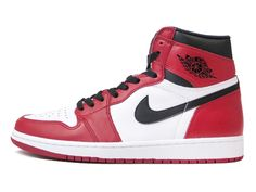 NIKE AIR JORDAN 1 RETRO HIGH OG WHITE/BLACK/VARSITY RED 【CHICAGO】