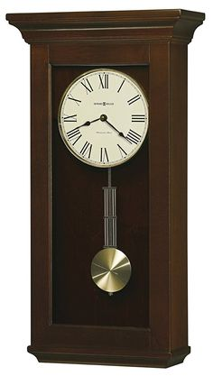 Howard Miller Continental Grandfather Clock Style Chiming Wall Clock with Pendulum, Charming, Vintage, Old World, Classic Design Chiming Wall Clocks, Howard Miller Wall Clock, Pendulum Wall Clock, Clock Wall, Wall Art, Wholesale Furniture, Home Wall Decor, Wood Colors, Decorative Accessories