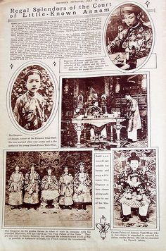 1921 ANNAM EMPEROR EMPRESS MINISTERS VINH THUY