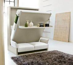 Idée pour un petit logement- armoire lit escamotable pour plus d'espace dans l'appartement ou la maison; trouvez différents designs avec lit escamotable