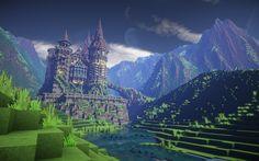 Rosenburg castle - A fairytale castle Minecraft Map Minecraft Designs, Minecraft Creations, Minecraft Projects, Minecraft Ideas, Minecraft Castle, How To Play Minecraft, Minecraft Houses Blueprints, House Blueprints, Minecraft Structures