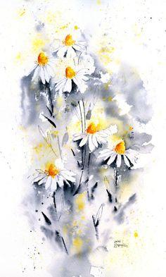 Rachel Mcnaughton - Black And White Daisies