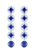 Louis Vuitton Voyage dans le Temps Galaxie Monogram earrings inspired by time travel.