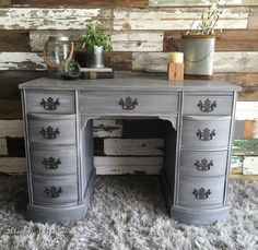 General Finishes driftwood milk paint and finished in a white wax - Make it a Masterpiece
