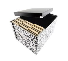 DiVOGA Brocade File Box with Black Lid $11.99