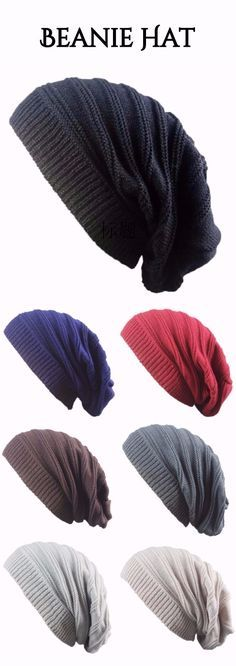 Striped Ribbing Knitting Stacking Beanie Hat 113cfd399a69