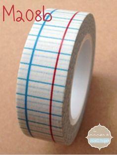 Washi Tape cuadricula libreta