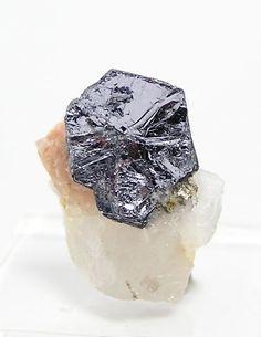Silver Molybdenite Crystal In Quartz Quebec by FenderMinerals