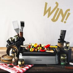 GIVEAWAY: Maille Get Grilling Makeover! Grand prize includes an Indoor Smokeless BBQ Grill, tableware set, a Maille flavor collection & much more! Bbq Grill, Grilling, Bbq Tool Set, Bbq Skewers, Stuffed Mushroom Caps, Food Print, Goodies, Favorite Recipes, Eat
