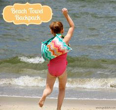 This is so clever! A backpack that has a fold out beach towel. Soo perfect for kids!