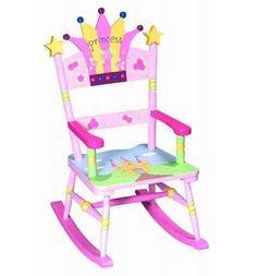 Child's PINK PRINCESS Wood Rocking Chair