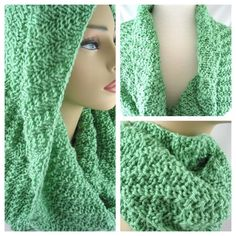 Sage Infinity Scarf - Hand Knit