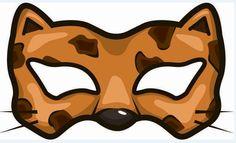 Free Kids Crafts - - Free Kids Crafts printable cheetah mask - letter c week - animal a week