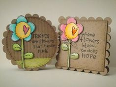 love the craft paper base, with a vibrant flower for a good contrast! super easy using the #silhoutte