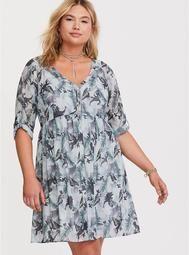 94a6d0659f8 Jurassic World Chiffon Mini Dress Trendy Plus Size Fashion