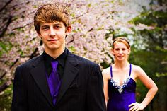 Couple pose for prom