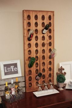 Build a riddling wine rack for your home. Makes a great Mother's Day gift! FREE plans!