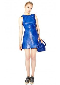 KASIA LEATHER DRESS by Alice + Olivia.  348