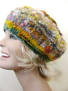 Nautilus Beret Knitting Pattern : 1000+ images about Vapaaneulonta/vapaavirkkaus / Free form knitting/crochetin...