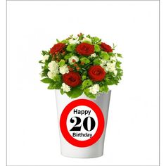 132 -  Geburtstagsgeschenk 20 Pflanzentopf ohne Pflanze Happy 20th Birthday, Happy 30th, 30th Birthday, Mugs, Tableware, Plants, Gifts, Dinnerware, Tumbler