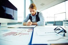 Buy Man at work by Pressmaster on PhotoDune. Office worker busy working with papers Typography Design, Branding Design, Lettering, Contract Management, Depth Of Knowledge, College Application, Working Man, Conscience, Helping Children