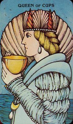 Queen of Cups,  Morgan-Greer Tarot