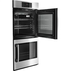 Bosch Double Electric Wall Oven with cu. European Convection Ovens, Self-Clean, 14 Cooking Modes, Fast Preheat, Temperature Probe and Side-Swing Door Electric Wall Oven, Stainless Steel Oven, Side Door, Fun Cooking, Food Preparation, No Cook Meals, Decoration, Kitchen Design, Kitchen Ideas