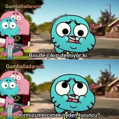 Gumball and Darwin Komik Sahneler Free Funny Videos, Stupid Cat, Vanellope Von Schweetz, Best Memes Ever, World Of Gumball, Blackpink Photos, Cute Disney Wallpaper, Darwin, Funny Cartoons