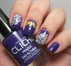 The Clockwise Nail Polish: Cliché Prazer nas Alturas - UberChic Beauty Nail Stamp plate - nail art