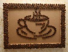 декор интерьера, своими руками, аксессуары из кофейных зерен, рамки из кофейных зерен, панно и картины из кофейных зерен, дерево из кофейных зерен