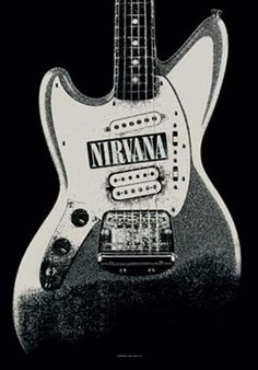 Nirvana Guitar Fabric Poster
