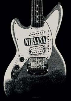Nirvana Guitar Fabric Poster