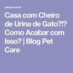 Casa com Cheiro de Urina de Gato?!? Como Acabar com Isso?  | Blog Pet Care