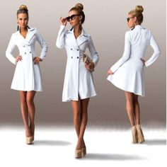 Sexy Slim Double Breasted Women Trench Coat
