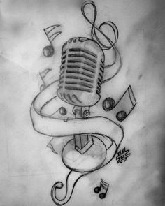 Music Tattoo Design want this in red!