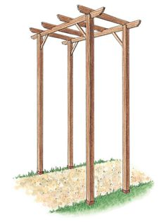 Learn how to build a simple freestanding wooden pergola kit with these gardening tips from DIYNetwork.com.