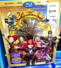 Costco Has Disney Alice Through The Looking Glass Blu Ray DVD Digital HD On Sale For A Limited Time