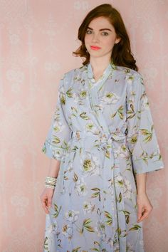 2 CUSTOM full length lined cotton robes or womens by Singing ...
