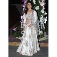 Alia Bhatt Off White color Bollywood Lehenga Choli