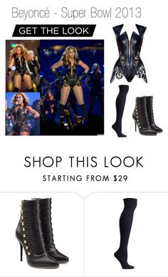 """""""Beyoncé-Super Bowl 2013"""" by letiziiacuschieri-i ❤ liked on Polyvore featuring Rubin Singer, Balmain and Ozone"""